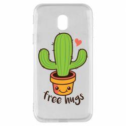 Чехол для Samsung J3 2017 Free Hugs Cactus