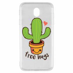 Чехол для Samsung J7 2017 Free Hugs Cactus
