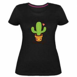 Женская стрейчевая футболка Free Hugs Cactus