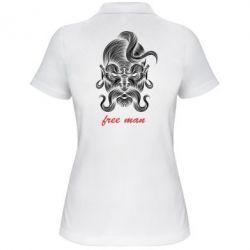 Женская футболка поло Free man