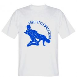 Мужская футболка Free-style wrestling - FatLine