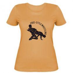 Женская футболка Free-style wrestling, FatLine  - купить со скидкой