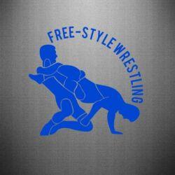 Наклейка Free-style wrestling