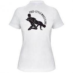 Купить Женская футболка поло Free-style wrestling, FatLine