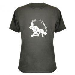 Камуфляжная футболка Free-style wrestling - FatLine
