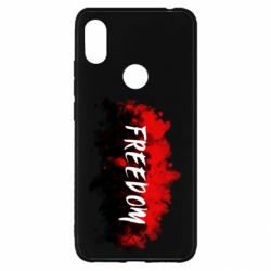 Чехол для Xiaomi Redmi S2 Freedom is red and black
