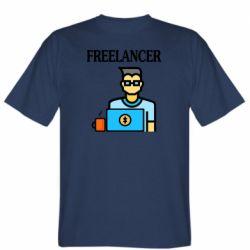 Мужская футболка Freelancer text