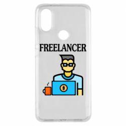 Чехол для Xiaomi Mi A2 Freelancer text