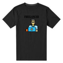 Мужская стрейчевая футболка Freelancer text