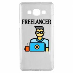 Чехол для Samsung A5 2015 Freelancer text