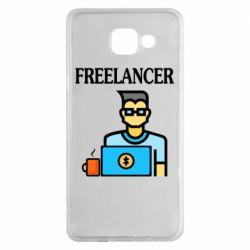 Чехол для Samsung A5 2016 Freelancer text