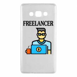 Чехол для Samsung A7 2015 Freelancer text