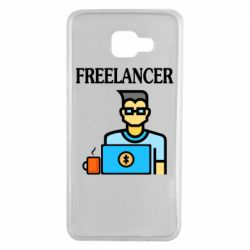 Чехол для Samsung A7 2016 Freelancer text