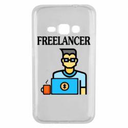 Чехол для Samsung J1 2016 Freelancer text