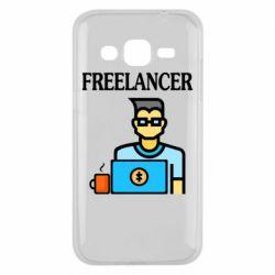 Чехол для Samsung J2 2015 Freelancer text
