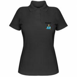 Женская футболка поло Freelancer text