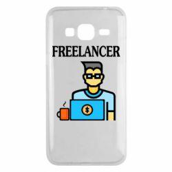 Чехол для Samsung J3 2016 Freelancer text