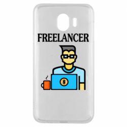 Чехол для Samsung J4 Freelancer text