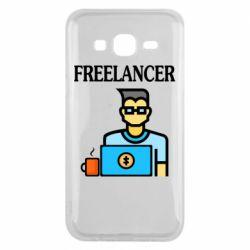 Чехол для Samsung J5 2015 Freelancer text