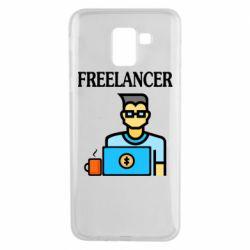 Чехол для Samsung J6 Freelancer text
