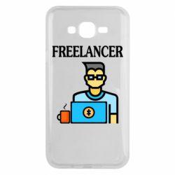 Чехол для Samsung J7 2015 Freelancer text