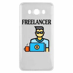 Чехол для Samsung J7 2016 Freelancer text
