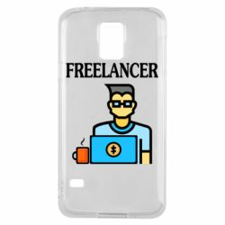 Чехол для Samsung S5 Freelancer text
