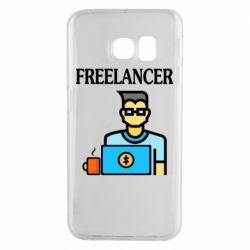 Чехол для Samsung S6 EDGE Freelancer text