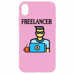 Чехол для iPhone XR Freelancer text