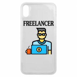 Чехол для iPhone Xs Max Freelancer text