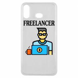 Чехол для Samsung A6s Freelancer text