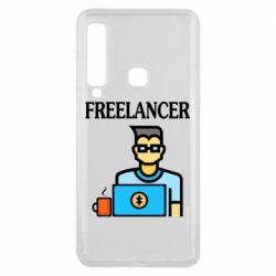 Чехол для Samsung A9 2018 Freelancer text