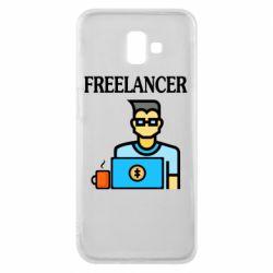 Чехол для Samsung J6 Plus 2018 Freelancer text