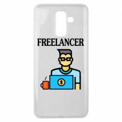 Чехол для Samsung J8 2018 Freelancer text