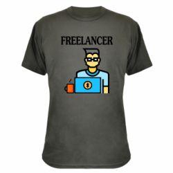 Камуфляжная футболка Freelancer text