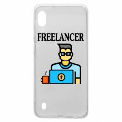 Чехол для Samsung A10 Freelancer text