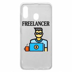 Чехол для Samsung A20 Freelancer text