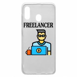 Чехол для Samsung A30 Freelancer text