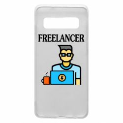 Чехол для Samsung S10 Freelancer text