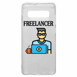 Чехол для Samsung S10+ Freelancer text