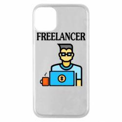 Чехол для iPhone 11 Pro Freelancer text