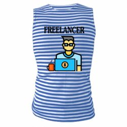 Майка-тельняшка Freelancer text