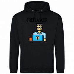 Мужская толстовка Freelancer text