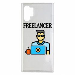 Чехол для Samsung Note 10 Plus Freelancer text