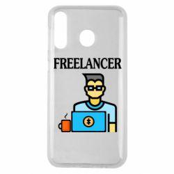 Чехол для Samsung M30 Freelancer text