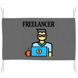 Флаг Freelancer text