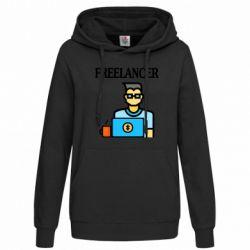 Женская толстовка Freelancer text