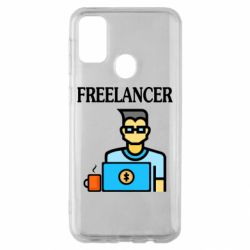 Чехол для Samsung M30s Freelancer text