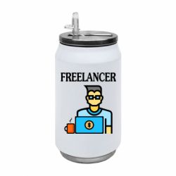 Термобанка 350ml Freelancer text