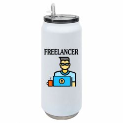 Термобанка 500ml Freelancer text